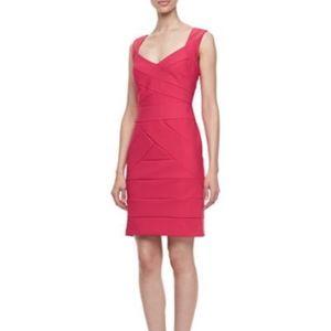 Laundry by Shelli Segal Pink Bandage Dress